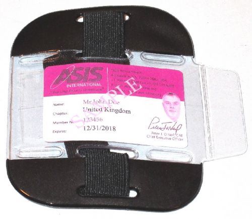 KR_ID_ARM_BLK Fluorescent Black SIA Compliant Arm Band ID Holder