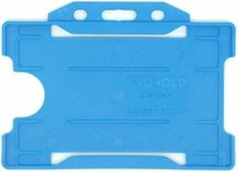 KR_IDPASS_07_SS_LBL Light Blue Recyclable Single Sided Landscape Open Faced ID Card Holder