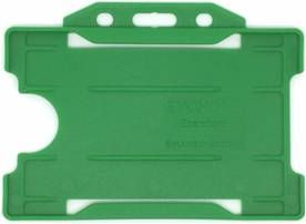 KR_IDPASS_07_SS_LGN Light Green Recyclable Single Sided Landscape Open Faced ID Card Holder