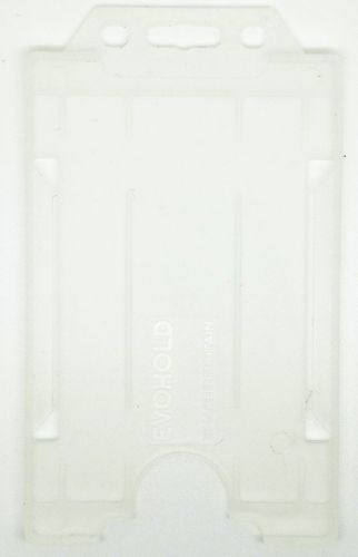 KR_IDPASS_06_SS_CLR Clear Recyclable Single Sided Portrait Open Faced ID Card Holder