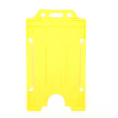 KR_IDPASS_06_SS_YEL Yellow Recyclable Single Sided Portrait Open Faced ID Card Holder