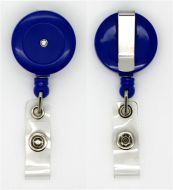 KR_BDG_BLU_S Retractable badge reel - Solid Blue