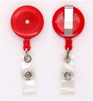 KR_BDG_RED_S Retractable badge reel - Solid Red