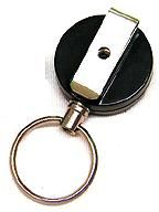 KR_KEY02 Keyreel with belt clip and keyring attachment. Stainless steel cord