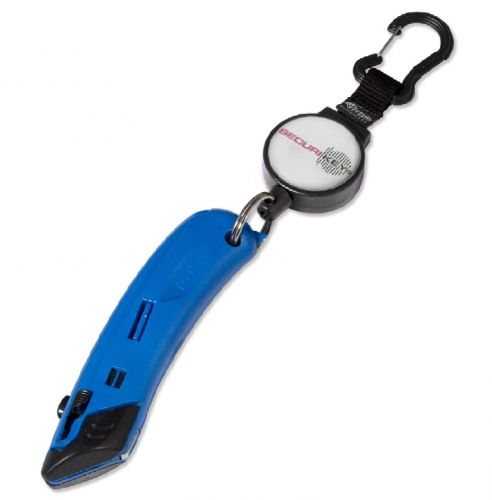 KR_KNIFE Heavy Duty Self Retracting Key Reel with a 90 cm Kevlar cord and a Safety Knife.