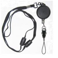 KR_LYD03_DM Heavy Duty Retractable Lanyard with dual Quick Release breakaways including a Detachable Nylon Loop.