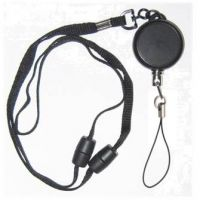 KR_LYD03_FL Heavy Duty Retractable Lanyard with dual Quick Release breakaways including a Nylon Fixed Loop.