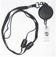 KR_LYD03_BS Heavy Duty Retractable Lanyard with dual Quick Release breakaways including a PVC Badge Strap