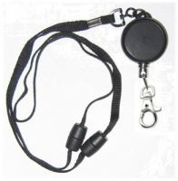 KR_LYD03_SH Heavy Duty Retractable Lanyard with dual Quick Release breakaways including a Metal Snap Hook.