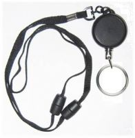 KR_LYD03_SR Heavy Duty Retractable Lanyard with dual Quick Release breakaways including a 30 mm Split Ring.