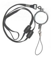 KR_LYD04_FL Heavy Duty Retractable Lanyard with dual Quick Release breakaways including Fixed Nylon Loop.